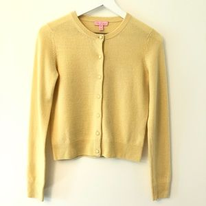 Lilly Pulitzer Golden Yellow Cardigan